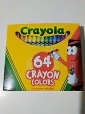 Crayola Crayons 64 crayon colors pack W/ Sharpener Kids crafts New