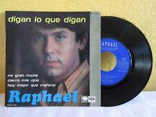 """RAPHAEL -DIGAN LO QUE DIGAN- SPANISH 7"""" EP PS POP EN ESPAÑOL"""