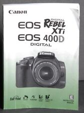 2007 CANON EOS REBEL XTi 400D DIGITAL SLR CAMERA INSTRUCTION MANUAL -CANON DSLR