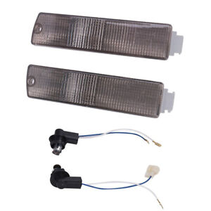 Front Bumper Turn Signal Indicator Side Marker Lamp Smoke PAIR For VW Jetta Golf