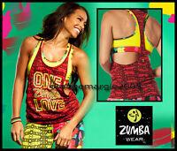 "ZUMBA One Zumba Love Bubble Racerback Tank Tee ""Well Red"" - EliteZWear XS S M L"