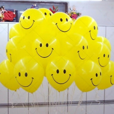 "Quality Yellow Smiley Face 11"" Party Celebration Balloons - Helium or Air Fill"