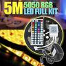 5M RGB 5050 Waterproof RGB LED Strip light SMD 44 Key Remote 12V Power Full Kit