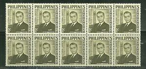 PHILIPPINES 812 MNH MANUEL QUEZON X 10 ISSUES