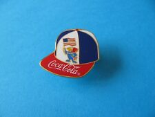 98 World Cup Football Coca Cola pin badge. Unused. USA Cap / Hat