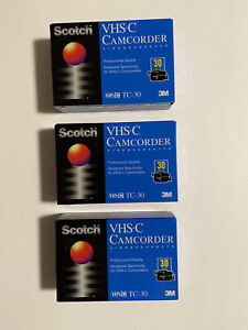 Scotch VHS-C Camcorder Videocassette TC-30 Tapes Lot Of 3 (Sealed)
