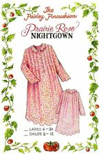 Prairie Rose Night Gown Pattern Childs sizes