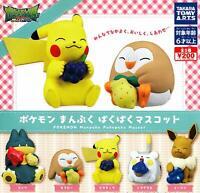 Pokemon Manpuku PacPac mascot All 5 set Gashapon mascot toys Complete set