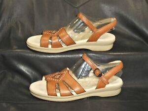 SAS Tripad Comfort Huarache women's tan leather sandal shoes size US 8 1/2S
