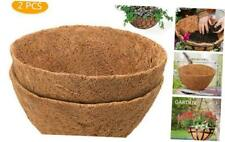 Cosyland 2Pcs 12 inch Round Coco Liners for Hanging Basket Coconut Fiber Planter