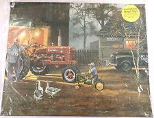 Farmall John Deere Tractor Deer Farm Scene Pub Game Room Garage Bar Sign