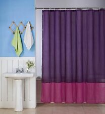 1PC SILKY 2 TONES SOLID BATHROOM FABRIC SHOWER CURTAIN WATER REPELLENT H10
