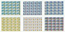 RUSSIA 1998 Sc# 6481-86 Full Sheets, 20th Cent. Achievements, MNH