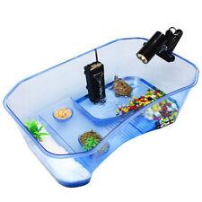Reptile Turtle Tortoise Vivarium Box Aquarium Tank with Basking Ramp Blue
