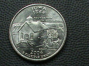 UNITED STATES 25 Cents 2004 D UNC IOWA