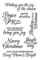 Hero Arts Clear Stamps - Merry Christmas Messages - Jingle all the Way