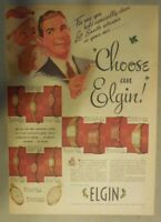 Elgin Watch Ad: Choose An Elgin ! Tabloid Page from 1940's
