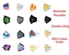 Double Layer Face Masks Fashion Cotton Men Women Unisex Design Washable Reusable