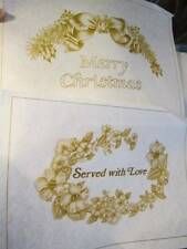 Tri-Chem Merry Christmas/Served With Love Pictures #2985-2 of 8.5x12 Inches- To