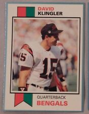 1993 SCD Sports Card Pocket Price Guide David Klingler Bengals Football Card