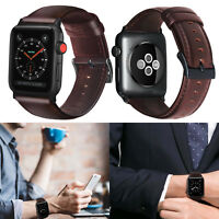 PASBUY 56B Genuine Leather Band for Apple Watch Series 4 3 2 1 42/44mm Brownness