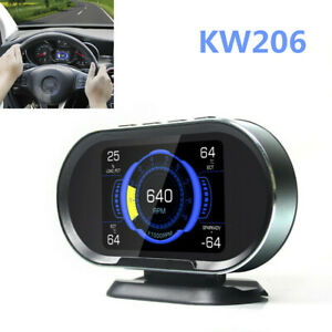 KW206 OBD2 Car Digital On-Board Computer Display Scanner Water Temperature Gauge