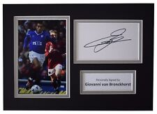 Giovanni van Bronckhorst Signed Autograph A4 photo display Rangers Football COA
