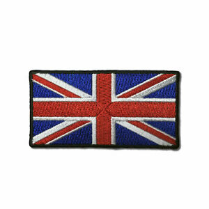 """Embroidered 3"""" British UK Flag Union Jack Sew or Iron on Patch Biker Patch"""