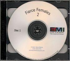 Fierce Females 2 2x cd Promo Madonna Sia Mariah Carey Donna Summer Inara Geroge