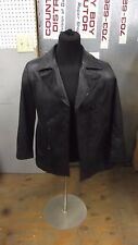 Jacqueline Ferrar Womens Leather Jacket Black Medium Size