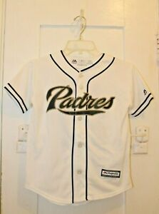 MAJESTIC San Diego Padres Matt Kemp #27 Coolbase Button Up Jersey Youth Small