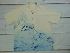 Tommy Bahama Men's Size large silk Button Front Sword Fish Ocean Sea Water