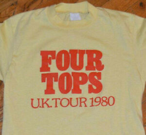 1980 THE FOUR TOPS vtg soul r&b rock concert tour tee t-shirt (S/M) 70's 80's