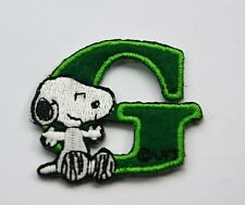 "LETTER G SNOOPY ALPHABET 1 1/2"" 4cm Sew Iron on Cloth Patch Applique Embroidery"