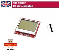 "84x48 1.6"" LCD Screen Module White back light  Nokia 5110 Arduino Raspberry Pi"