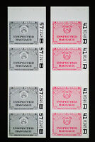 US 4 Proof of Inspected Baggage Stamp Strips