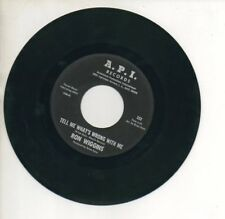 RON WIGGINS 45 RPM Record NEVER LET ME GO / TELL ME WHAT'S WRONG WITH ME  A.P.I.