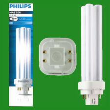 10x Philips 18W Cfl G24q-2 4 Clavija 4000K Blanco Frío Bld Adhesivo Luz Bombilla