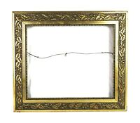 "Antique 19th C Victorian Picture Frame Gold Gesso Ornate Floral Fits 18"" x 15"""