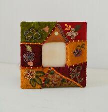 Boho Photo Picture Frame Velvet Beaded Embroidered Satin Photo Frame