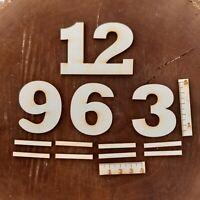 Deutsche Ziffern 3 6 9 12 mit Striche aus Holz 50 mm Höhe Basteln Deko Arabische