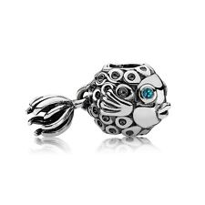 Authentic Pandora Charm Sterling Silver Splish Splash Blue Fish 791108TPP