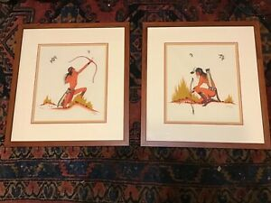 Set Of 2 Beatien Yazz Paintings Original Signed Framed
