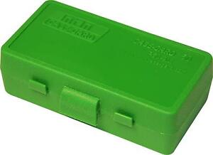 9mm / 380 Ammo Box Green 50 Round (Quantity 5) Free Shipping (MTM)