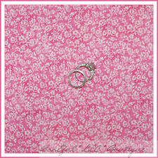 BonEful Fabric FQ Cotton Quilt Pink Breast Cancer Flower Tiny Calico Girl Blend