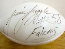 JESSIE TUGGLE AUTOGRAPHED  NFL WILSON FOOTBALL ATLANTA FALCONS