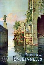 Art Print Punta di Balbianello Italy Travel Poster