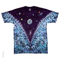 SPACE TOP-EARTH, STARS, PLANETS-2 SIDED V TIE DYE T-SHIRT M-L-XL-XXL-3X-4X-5X-6X