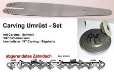 Carving Umrüst-Set STIHL Typ 1129 020T MS200T Kette Schwert Kettenrad Kettensäge
