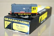 GRAHAM FARISH 1005 KIT BUILT CJM RAILFREIGHT 0-6-0 CLASS 08 SHUNTER LOCO 08535 m